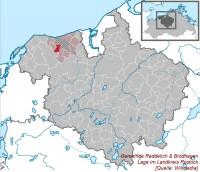 Lageplan der Gemeinde Reddelich & Brodhagen